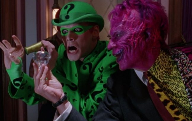 The Riddler and Two-Face in Batman Forever