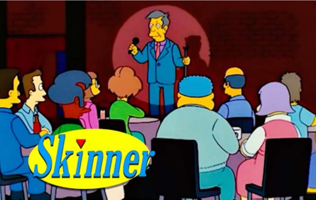 """The """"Steamed Hams"""" Simpsons episode in the style of Seinfeld"""