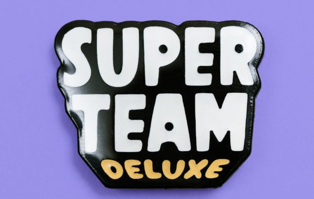 Super Team Deluxe pin