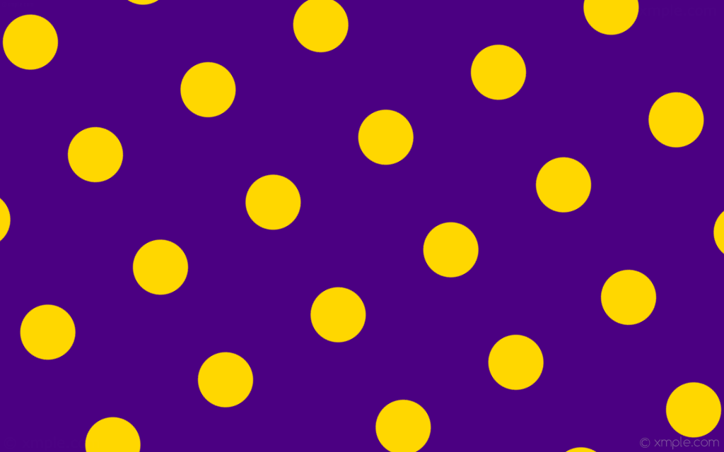 Purple with Yellow Spots History Month