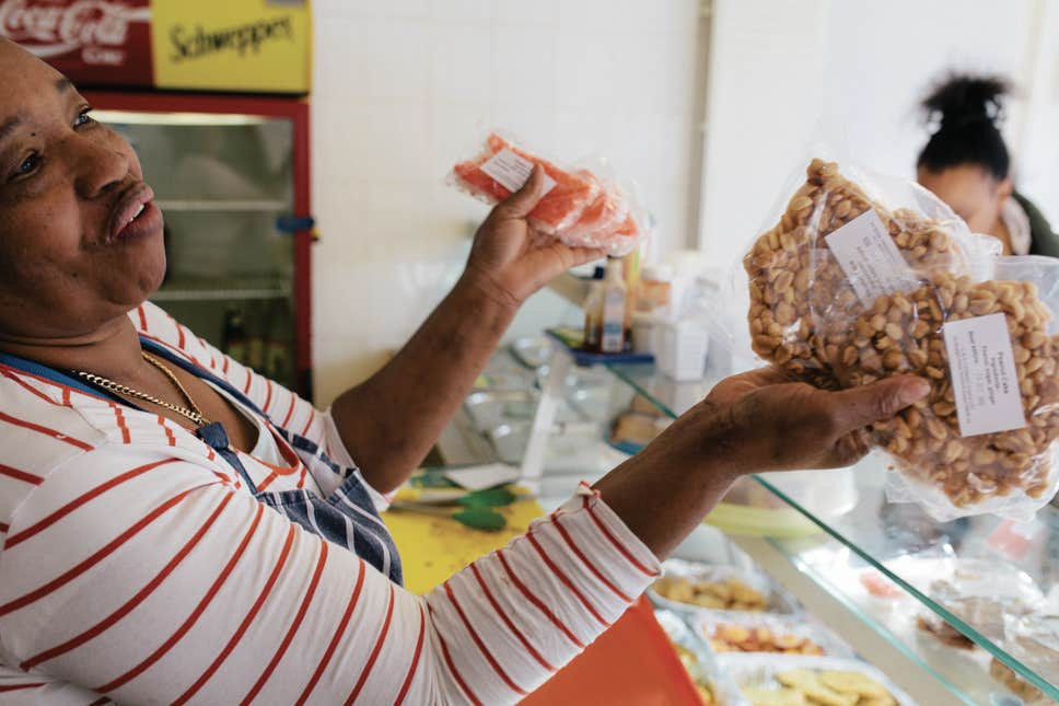 Picture taken in a West Indian shop, from Riaz Phillips' Belly Full series