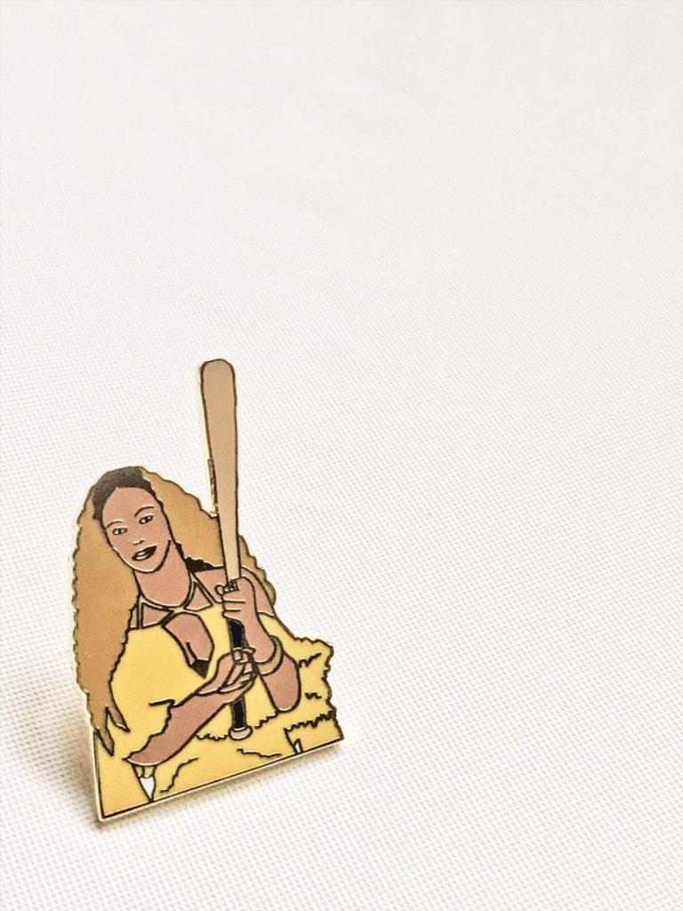 bey enamel pin gold