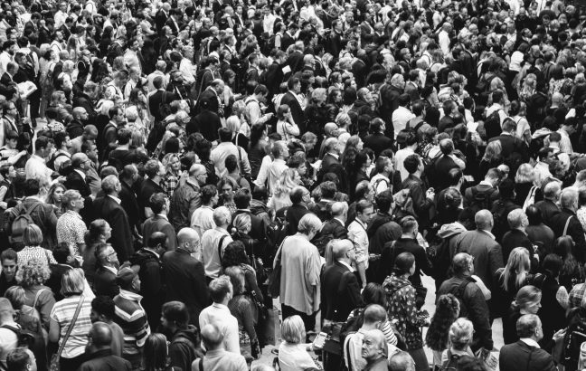 A crowd of people - something to avoid during social distancing