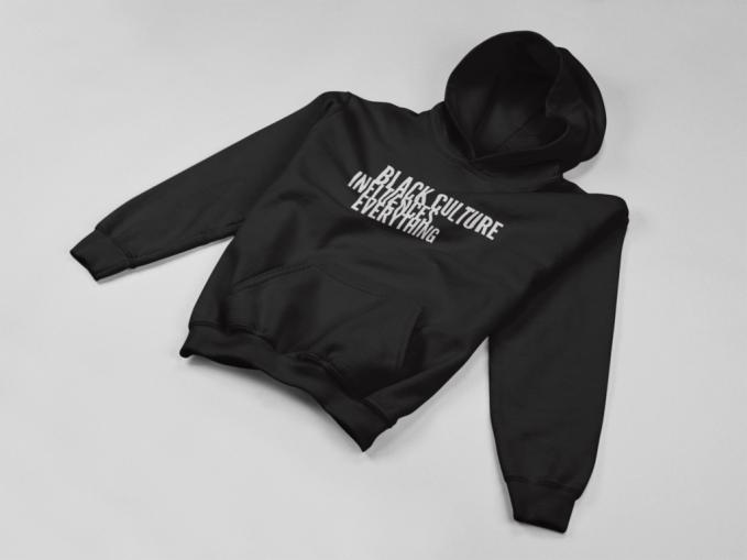 Black Culture Influences Everything hoodie in black