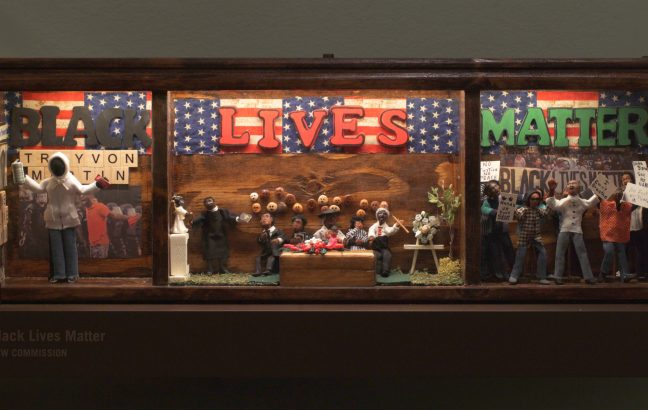 A Black Lives Matter diorama from The African American Miniature Museum