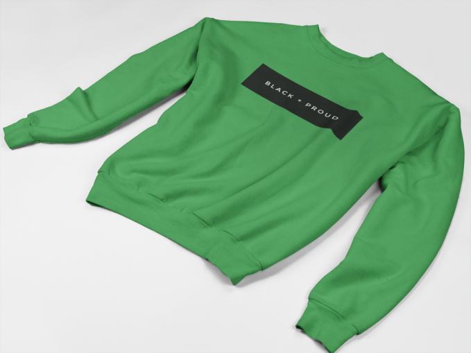 Black+Proud Crewneck Sweatshirt in pine green