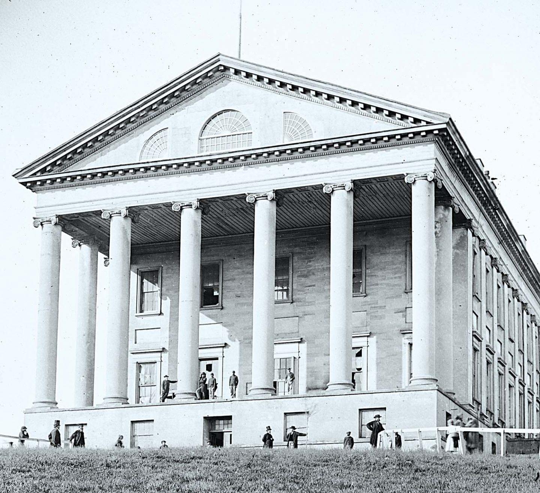 Virginia State Capitol in Richmond, Virginia, designed by Thomas Jefferson.