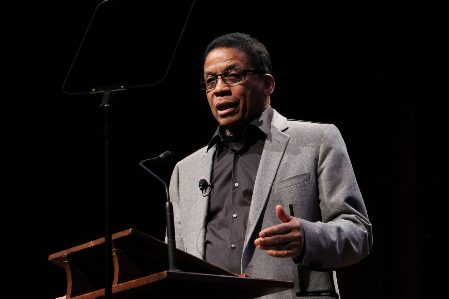 Herbie Hancock speaking in a lecture about Buddhism and Creativity