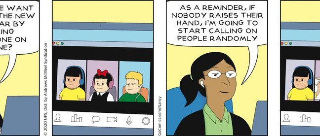 A Nancy comic about virtual schooling