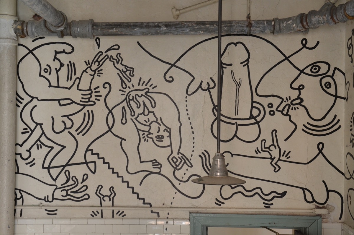 Keith Haring's 'Once Upon a Time' Bathroom Mural