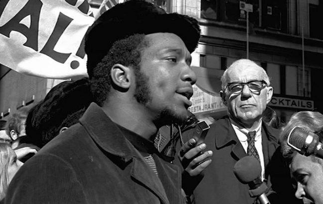 Fred Hampton addressing the public