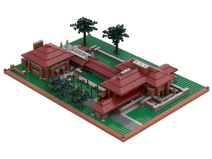 Atom Brick Frank Lloyd Wright Darwin D. Martin House