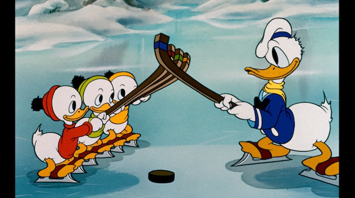 Donald Duck with his nephews